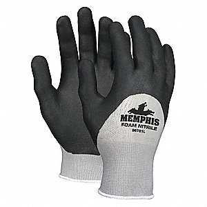 "Coated Gloves,3/4 Dip,L,10-3/4"",PR"