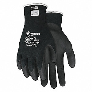 Cut Resistant Gloves,A3,XL,Black,PR