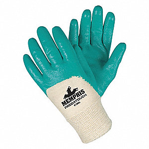 Smooth Nitrile Coated Gloves, Glove Size: S, Green