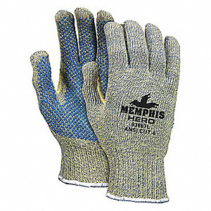PVC Cut Resistant Gloves, ANSI/ISEA Cut Level A4 Lining, Multi, L, PR 1