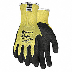 Nitrile Cut Resistant Gloves, ANSI/ISEA Cut Level 2 Lining, Yellow, XL, PR 1