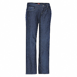 "Women's Pocket Jeans, 100% Cotton, Color: Indigo, Fits Waist Size: 32"" x 28"""