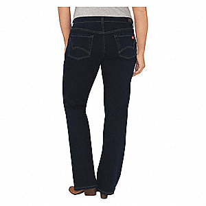 "Women's Stretch Pocket Jeans, Cotton/Polyester/Spandex, Color: Stonewash, Fits Waist Size: 36"" x 32"""