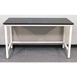 "60"" x 36"" x 37"" Steel Table with 2000 lb. Load Capacity, Pearl White"