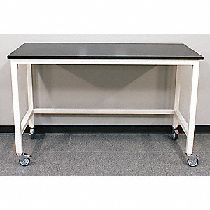 "96"" x 36"" x 37"" Steel Table with 960 lb. Load Capacity, Pearl White"