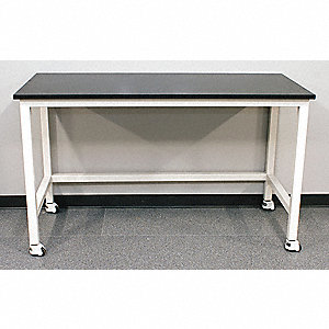 "84"" x 30"" x 37"" Steel Table with 2000 lb. Load Capacity, Pearl White"