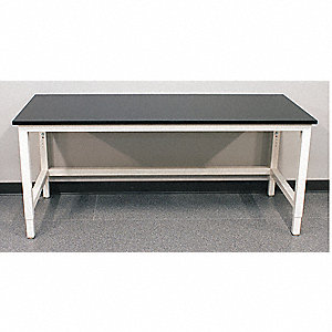 Adj. Table,48in.Wx30in.D,w/Glides,Epoxy