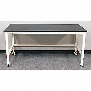 "96"" x 30"" x 30"" Steel Adjustable Table with 2000 lb. Load Capacity, Pearl White"