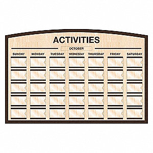 Monthly Calendar,Maple,Brown