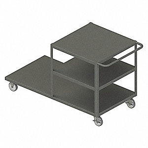Combination Platform Truck, Steel Deck Material, Steel Frame Material, 1200 lb. Load Capacity