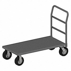 Platform Truck with Corner Bumpers, Steel Deck Material, Steel Frame Material