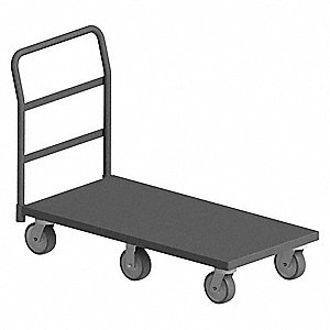 Six Wheeled Platform Truck, Steel Deck Material, Steel Frame Material, 3600 lb. Load Capacity