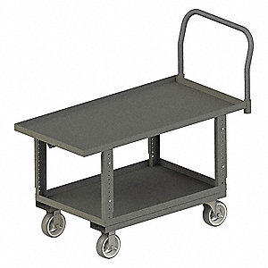 Lip Edge Work Height Platform Truck, Steel Deck Material, Steel Frame Material