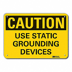 "Electrical Hazard, Caution, Aluminum, 7"" x 10"", With Mounting Holes, Engineer"