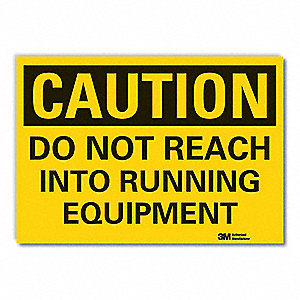 Caution Sign,5 in. H,Vinyl,Do Not Reach