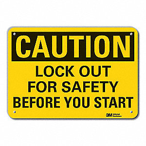 Caution Sign,7 in. H,Aluminum