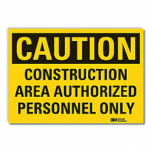 Caution Sign,3-1/2 in. H,Vinyl