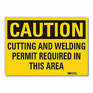 Caution Sign,10 in. H,Vinyl