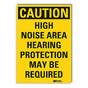 Caution Sign,7 in. H,Vinyl