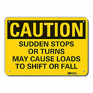 "Road Traffic Control, Caution, Aluminum, 10"" x 14"", With Mounting Holes, Engineer"
