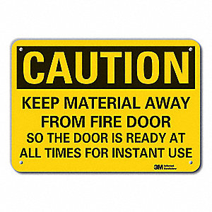 Caution Sign,7 in. H,Alum,Keep Material