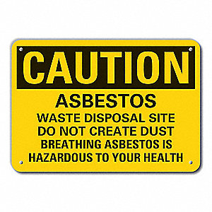 "Health Hazard, Caution, Aluminum, 10"" x 14"", With Mounting Holes, Engineer"