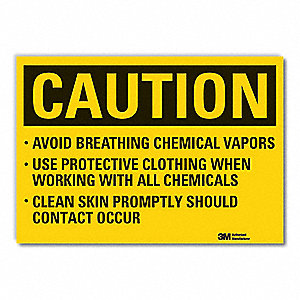 Caution Sign,5 in. H,Vinyl,Avoid