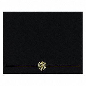 Certificate Cover,Black/Gold,12 in H,PK5