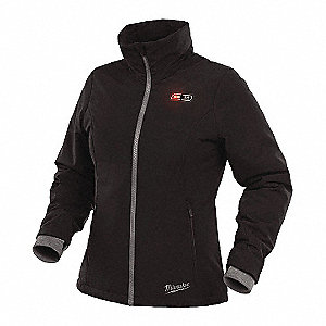 Women's Black Heated Jacket Kit, Size: M, Battery Included: Yes