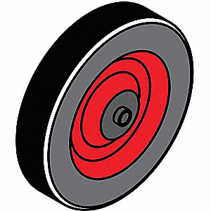 Barrier System Barrier Wheel,Rubber,Blk