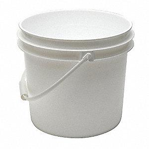 SEAU,3.5 GAL,POIGNEE PLASTIQUE,BLANC