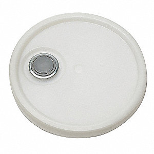 Lid, Natural, Spout w/Tear Tab, 1-3/16 in H