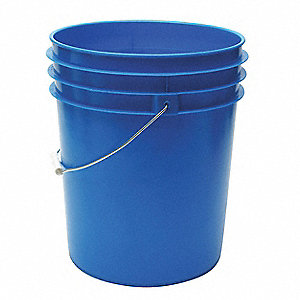 5.0 gal. High Density Polyethylene Round Pail, Blue