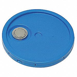 LID,BLUE,SPOUT W/TEAR TAB,1-3/16 IN. H