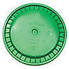 PLASTIC PAIL LID,GREEN,SNAP,1-3/16 IN. H