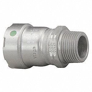 "Carbon Steel Male Adapter, Press x MPT Connection Type, 1-1/2"" x 1-1/2"" Tube Size"