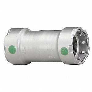 "Carbon Steel Coupling No Stop, Press x Press Connection Type, 1"" x 1"" Tube Size"