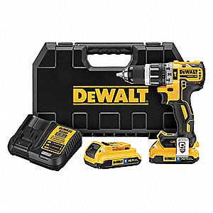 "1/2"" Cordless Hammer Drill Kit, 20.0 Voltage, Battery Included"