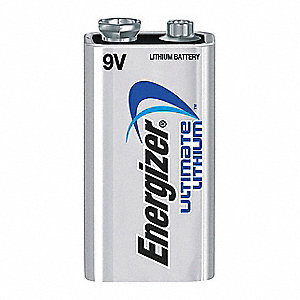 9V Standard Battery, Energizer Ultimate, Lithium, PK1