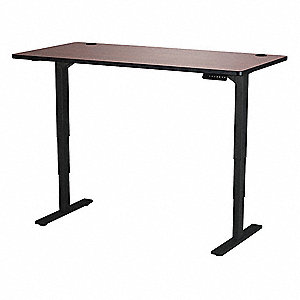Adjustable Table,30 in.D,60 in.W,Cherry
