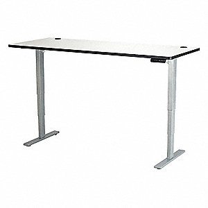 Adjustable Table,72 in.W,Gry,Steel