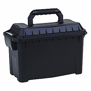 "Portable Tool Box,Black,9-7/32"" H x 6"" D"