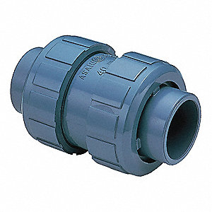 "1-1/4"" Ball Check Valve, PVC, Socket Connection Type"