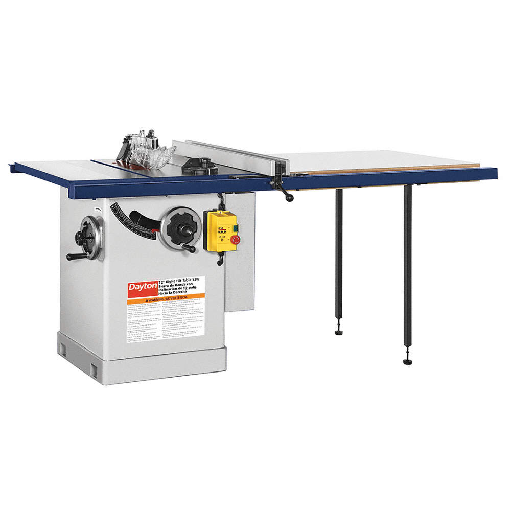 Dayton cabinet table saw 12 in blade 49g99649g996 grainger zoom outreset put photo at full zoom then double click keyboard keysfo Image collections
