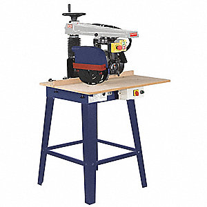 "Radial Arm Saw 10"" and 12"", 3400 No Load RPM, 0° to 45° Miter Capacity"