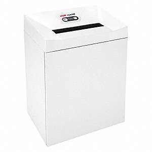 Paper Shredder,Strip-Cut,White,21 gal.