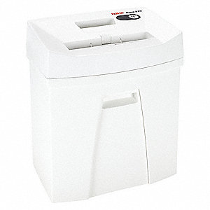 Paper Shredder,Cross-Cut,White,8.6 fpm