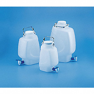 HDPE Rectangular Carboy, 1.32 gal. 1EA