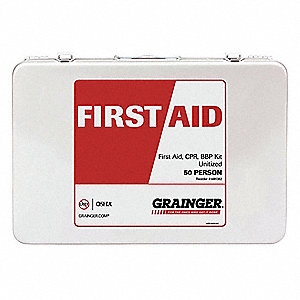 First Aid Kit, White, 1 EA