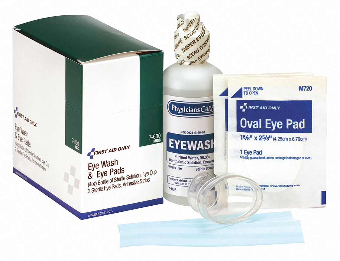 4 oz Personal Eye Care Kit, For Use With First Aid Kits or Toolboxes